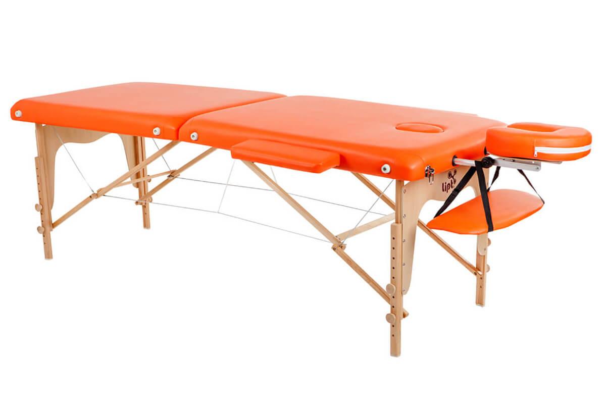 Masážní lehátko skládací dřevěné Lipt®D-05